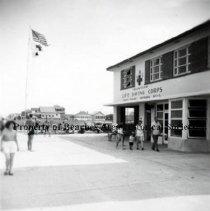 Image of Life Saving Station - Jacksonville Beach, Florida - No Date Life Saving Station - entrance to main office
