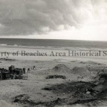 Image of Mineral City on Atlantic Ocean - Mineral City, Florida Mineral City on Atlantic Ocean - Beach, building materials, sand piles