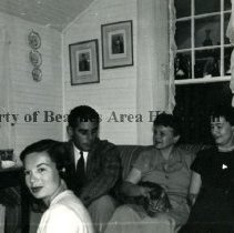 Image of Jonnie Norris and Others at the Norris Home - Atlantic Beach, Florida Jonnie Norris and three others at her Atlantic Beach home