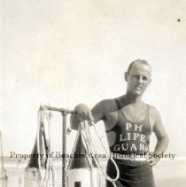 Image of Robert Francis Mullin - Pablo Beach, Florida - ca. 1920 Robert Francis Mullin - Perkins House lifeguard