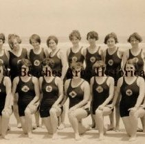 Image of Women's Division, American Red Cross Life Guards - Jacksonville Beach, Florida Women's Division, American Red Cross Life Guards