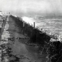 Image of Construction of the B.B. McCormick & Sons Seawall - Jacksonville Beach, Florida 
