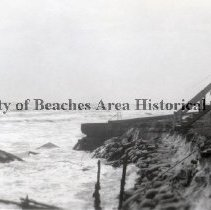 Image of Ryan's Sea Home, 12th Avenue N - Jacksonville Beach, Florida Surf and beach scenes Ryan's Sea Home, 12th Avenue N.; dune damage and sandbags