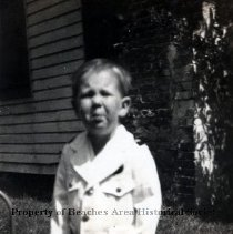 Image of Lavern DeGrove - Lavern DeGrove - snapshot of a little boy in Navy uniform.