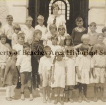 Image of Pupils at Jacksonville Beach Grammar School #50 - Jacksonville Beach, Florida Pupils at Jacksonville Beach Grammar School #50 including Shigeo Takami (3rd from left, first row) and Gertrude McCormick (3rd from right, second row)