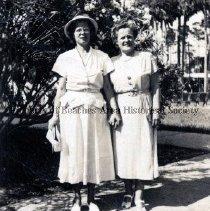 Image of Dorothy Minchew and Edith (DeGrove) Chambers - Jacksonville Beach, Florida Dorothy Minchew and Edith (DeGrove) Chambers