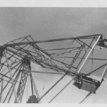 Image of Hurricane damage to Reid's Ferris Wheeel - Hurricane damage to Reid's ferris Wheel