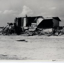 Image of Hurricane Dora 1964; Damage to South Ponte Vedra houses - Hurricane Dora; September 1964;   different view of extensive damage to beach house  in South Ponte Vedra shown in P-3034