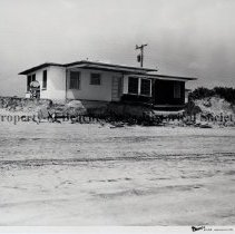 Image of Damage to South Ponte Vedra houses. - Hurricane Dora; September 1964;view of damage to Ponte Vedra house  ; one copy