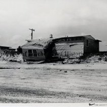 Image of Damage to South Ponte Vedra houses. - Hurricane Dora; September 1964; view of extensive damage to  Ponte Vedra house  ; one copy