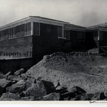 Image of Hurricane Dora 1964; Neptune Beach - Hurricane Dora; September 1964; different view of  damage to house in Neptune Beach, Lora Street and Oceanfront on the Strand .