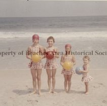 Image of Dryden's daughters -  Dryden  daughters on the beach at Ocean City, MD.