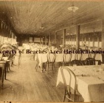 Image of Pablo Beach, Florida- Ocean View Hotel - Pablo Beach, Florida Interior of dining room of Ocean View Hotel. ( Also see: P-419 & P-420)