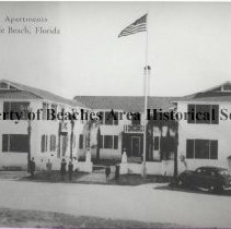 Image of Pioneer Apartments -  The Pioneer Apartments, 218 Beach  Blvd., Jacksonville Beach. Reproduction from a Post Card (80-35-48a)