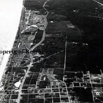 Image of Aerial View of South Jacksonville Beach/North Ponte Vedra - South Jacksonville Beach/North Ponte Vedra Aerial view looking south showing Ponte Vedra Club golf course and homes in Jax Beach. Seems to predate J. Turner Butler Boulevard.