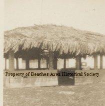 Image of Elizabeth Stark's home  ( Picnic area) - Mayport, Florida Wonderwood Estate - thatched picnic area of estate.  Home of Elizabeth Stark.