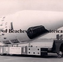 Image of The Transtage Spacecraft being Transported on a Trailer - The Transtage Spacecraft capsule is being tranported by trailer as property of the United States Air Force.