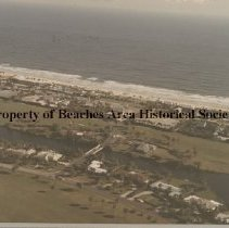 Image of Aerial view of Ponte Vedra Boulevard - Ponte Vedra Beach, FL Aerial view  of ocean, Ponte Vedra Boulevard, Miranda Road and golf course.