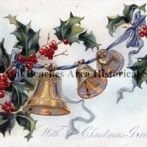 Image of With Christmas Greetings - With Christmas greetings Christmas Card  Mailed to: Effie May McKinney From her friend: Clara.