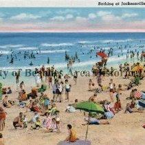 Image of Bathing at Jacksonville Beach, Florida - Bathing at Jacksonville Beach, Florida