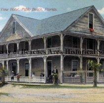 Image of Ocean View Hotel, Pablo Beach, Florida - Ocen View Hotel, Pablo Beach, Florida with guests on veranda