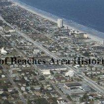 Image of Neptune Beach & Jacksonville Bch. Aerial view - Neptune Beach and Jacksonville Beach, Florida, aerial view  Jacksonville Beach is in the foreground, at the center is Neptune Beach and at the upper coastline is Atlantic Beach.