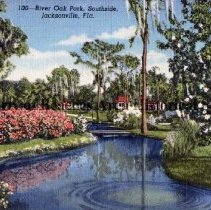 Image of River Oak Park, Souhside, Jacksonville, Fla. - 100 -- River Oak Park, Southside, Jacksonville, Fla.  Color photo