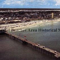 Image of Daytona Beach, Fla. - Daytona Beach, Fla. Shown on this card is the boardwalk area, the Main St. Pier, and in the background is the Halifax River.   Color Photo
