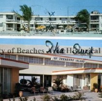 Image of The Surf of Treasure Island - The Surf Of Treasure Island Rooms and Apts. 100% Air Conditioned, TV, Heated Pool On The Gulf of Mexico 11040 Gulf Blvd. Sr. Petersburg, Florida  Color photo