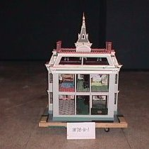 Image of back of dollhouse