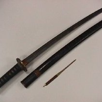Image of sword, scabbard and Kogai