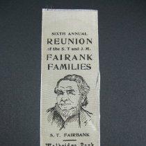 Image of Ribbon, Commemorative - Fairbank Families/Reunion