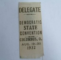 Image of Ribbon, Political - Democratic Convention