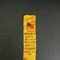 Image of Ribbon, Commemorative - 3rd Ohio Cavalry/Reunion
