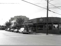 Image of Woodmont Triangle - 1994 photo.  shop on corner, with most visible sign: Foong Lin Restaurant, a Chinese restaurant.