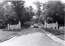 Image of Woodend - Source:Lt. Col. S.G. Trask. Description: Audubon Society - entrance. Clean Drinking Manor site. August 1974 photo. M-NCPPC Site 35/12