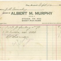 Image of Bills of sale: Albert Murphy - September 16, 1919