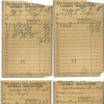 Image of Forest Glen Trading Co. receipts - 1917-1918