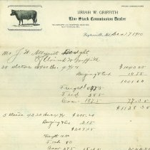 Image of Uriah Griffith, receipt - December 1, 1910