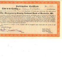 Image of Montgomery County National Bank, participation certificates - May 25, 1933