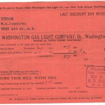 Image of Bills from Washington Gas Light Co. - 1910-1911