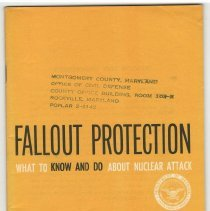 Image of Fallout Protection booklet - December, 1961