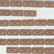 Image of Glen Echo ride tickets