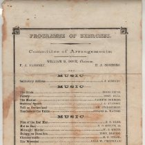 Image of Rockville Academy commencement exercises program, scholarship application, [letter of donation explaining programme] - 1872; c. 1900-1909; 1955