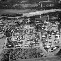 Image of 1985 aerial view of Tubac - Kinsley Arcadia Photo Collection