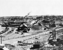 Image of View of Rouse Mine buildings.