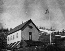 Image of School house at Irwin, built in 1882. Camp and Plant Vol. 4 No. 26
