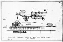 Image of Drawing of the Pueblo steel plant, 1882