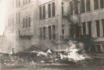 Image of Fire destroys manual arts building