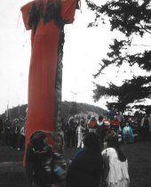 Image of 1997.055 - Ceremony unveiling the Maiden of Deception Pass